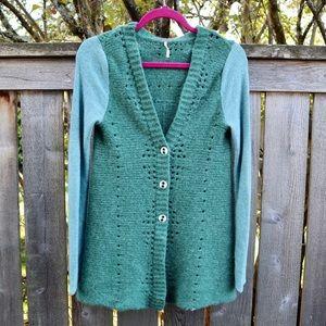 Free People Boho Lace Sweater Cardigan